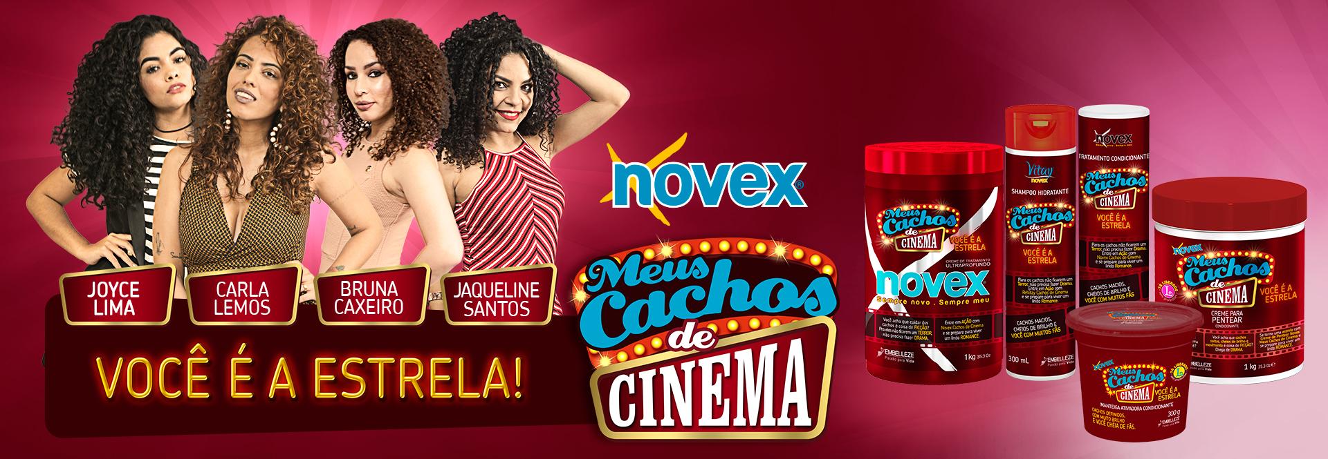 Banner Novex Meus Cachos de Cinema