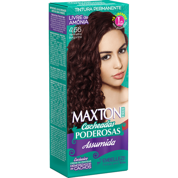 Tinta-de-Cabelo-para-cabelo-cacheado-Maxton-Free-Cacheadas-Poderosas-Assumida-Vermelho-Borgonha-4.66-Kit