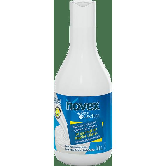 Leave-In-para-cabelo-cacheado-Novex-Meus-Cachos-Creme-de-Leite-Tratamento-Gourmet-500G