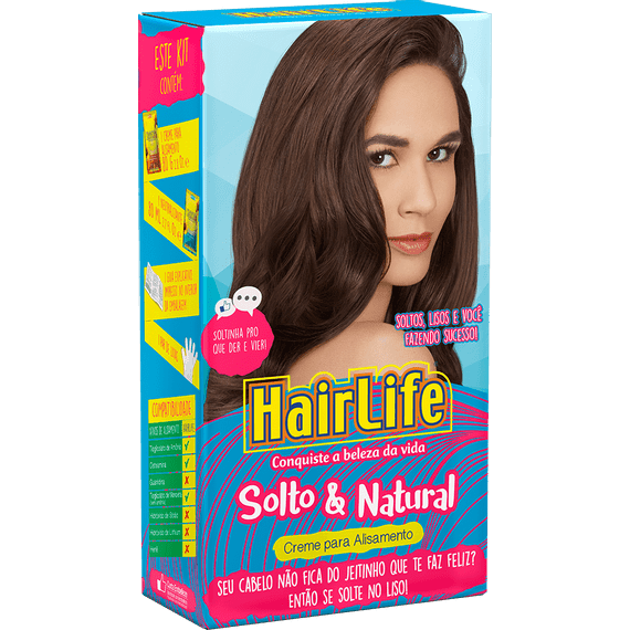 Creme-Alisante-HairLife-Solto---Natural--KIT