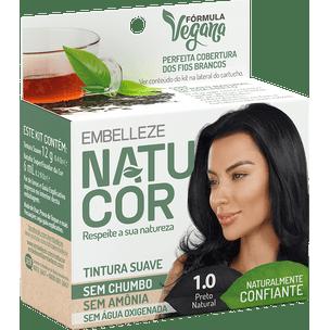 Tinta-de-Cabelo-Natucor-Naturalmente-Confiante-Cha-Preto-Preto-Natural-1.0-KIT-ECONOMICO