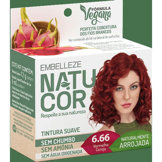 Tinta-de-Cabelo-Natucor-Naturalmente-Arrojada-Vermelho-Cereja-6.66-KIT-ECONOMICO