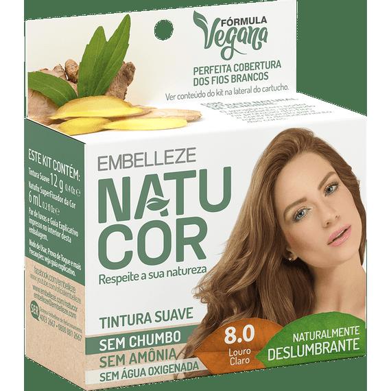 Tinta-de-Cabelo-Natucor-Naturalmente-Deslumbrante-Louro-Claro-8.0-KIT-ECONOMICO