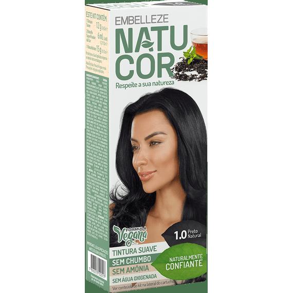 Tinta-de-Cabelo-Natucor-Naturalmente-Confiante-Cha-Preto-Preto-Natural-1.0-Kit-Completo