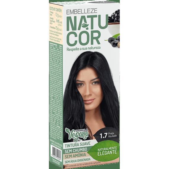 Tinta-de-Cabelo-Natucor-Naturalmente-Elegante-Preto-Azulado-1.7-Kit-Completo-KIT-C