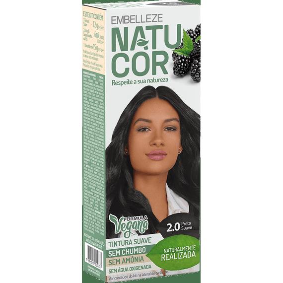 Tinta-de-Cabelo-Natucor-Naturalmente-Realizada-Amora-Preta-Preto-Suave-2.0-Kit-Completo-KIT-C