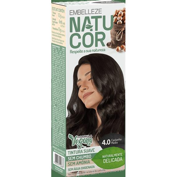 Tinta-de-Cabelo-Natucor-Naturalmente-Delicada-Avela-Castanho-Medio-4.0-Kit-Completo-KIT-C