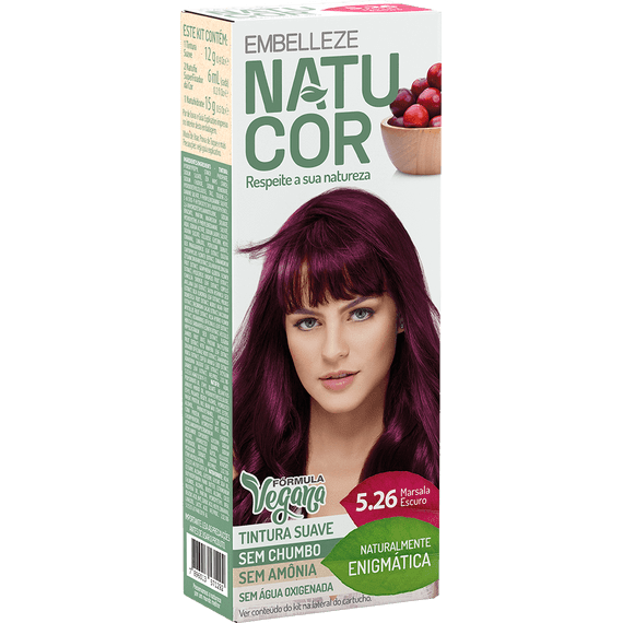 Tinta-de-Cabelo-Natucor-Naturalmente-Enigmatica-Marsala-Escuro-5.26-KIT-Completo-KIT-C