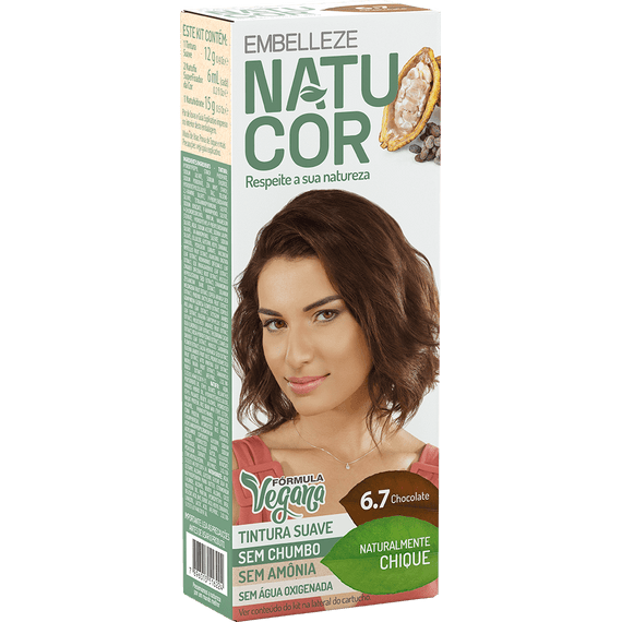 Tinta-de-Cabelo-Natucor-Naturalmente-Chique-Chocolate-6.7-KIT-Completo-KIT-C