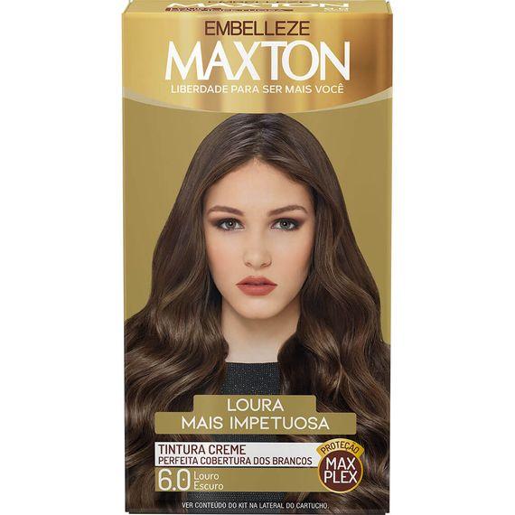Tintura-para-pintar-cabelos-Maxton-Louro-Escuro-6.0-Kit-Completo