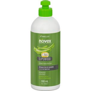 Creme-para-Pentear-Novex-Superfood-Remineralizante-Biomassa-de-Banana-e-Acucar-Mascavo-300ML