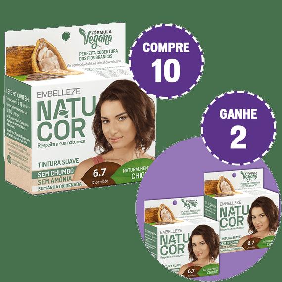 Kit-Compre-10-Tinta-de-Cabelo-Natucor-Naturalmente-Chique-Chocolate-6.7-e-Ganhe-2