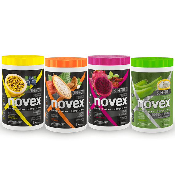 Kit-Novex-Superfood-Cremes-de-Tratamento-1KG-Cronograma-Capilar